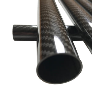 Carbon Fiber Tubing  - 14mm x 12mm x 500mm - 3K Roll Wrapped 100% Carbon Fiber Tube Glos