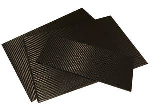 Carbon Fiber Plating  - 400mm x 500mm x 2mm - 3K Carbon Fiber Plate High Gloss Finish
