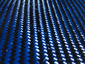 KEVLAR ARAMID  Fabric - 4 in x 50 ft - Twill  - 240g/m2 - 3K TOW (Blue)