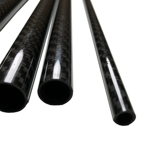 Carbon Fiber Tubing  - 20mm x 18mm x 500mm - 3K Roll Wrapped 100% Carbon Fiber Tube Glossy