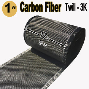 high strength twill weave Carbon fiber fabric roll 50 feet by 12 in wide