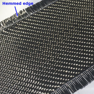 Twill weave Carbon fiber fabric with hemmed border