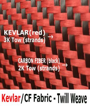 Twill weave kevlar Carbon fiber fabric with hemmed border