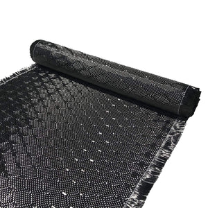12 in x 50 FT - WASP - Carbon Fiber Fabric - Wasp Weave-3K - 220g-Black