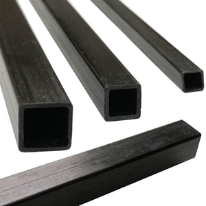 (1) Pultruded Square Carbon Fiber Tube - 10mm x 10mm x 1000mm