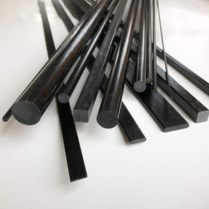(2) 2mm X 1000mm - PULTRUDED-Square Carbon Fiber Rod. 100% Pultruded high Strength Carbon Fiber. Used for Drones, Radio Controlled Vehicles. Projects requiring high Strength to Weight Components.