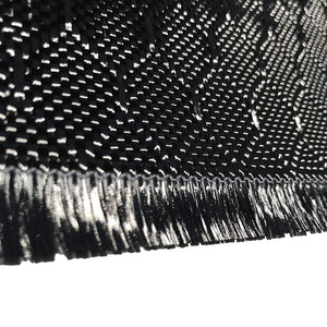 12 in x 100 FT - WASP - Carbon Fiber Fabric - Wasp Weave-3K - 220g-Black