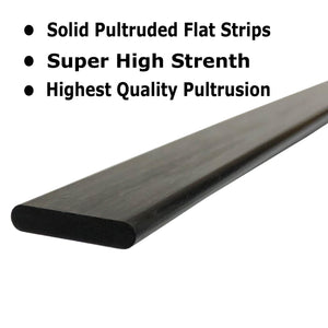 (1) 3mm x 12mm 1000mm - PULTRUDED-Flat Carbon Fiber Bar. 100% Pultruded high Strength Carbon Fiber. Used for Drones, Radio Controlled Vehicles. Projects requiring high Strength Components
