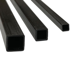 (10) Pultruded Square Carbon Fiber Tube - 8mm x 8mm x 1000mm