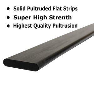 (2) 1mm x 10mm 1000mm - PULTRUDED-Flat Carbon Fiber Bar. 100% Pultruded high Strength Carbon Fiber. Used for Drones, Radio Controlled Vehicles. Projects requiring high Strength Components