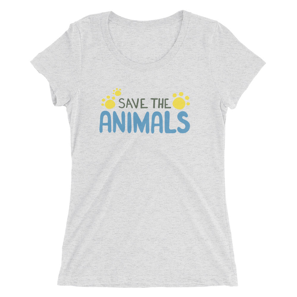 Women's SAVE the Animals T-shirt  - EIGHTO2 SHOP