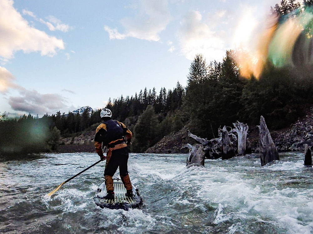 Tackling Some Of BC's White Water Rivers On A SUP
