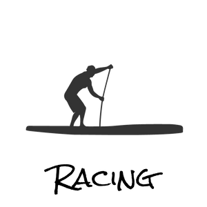 Racing paddle boards logo
