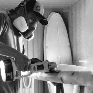 Shaping and manufacturing a SUP in california