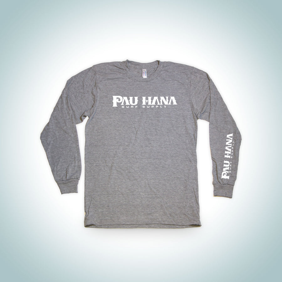 Pau Hana Logo Graphic Longsleeve Tee S / Grey T-Shirts Surf Supply