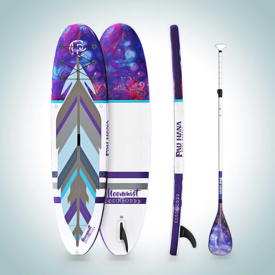 Pau Hana Moonmist inflatable Yoga All-around Stand Up Paddle Board Surf Supply