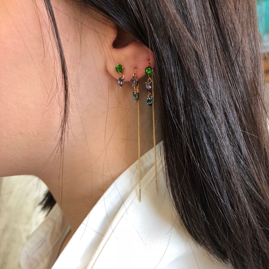 TRIPLE DROP  | EARRINGS