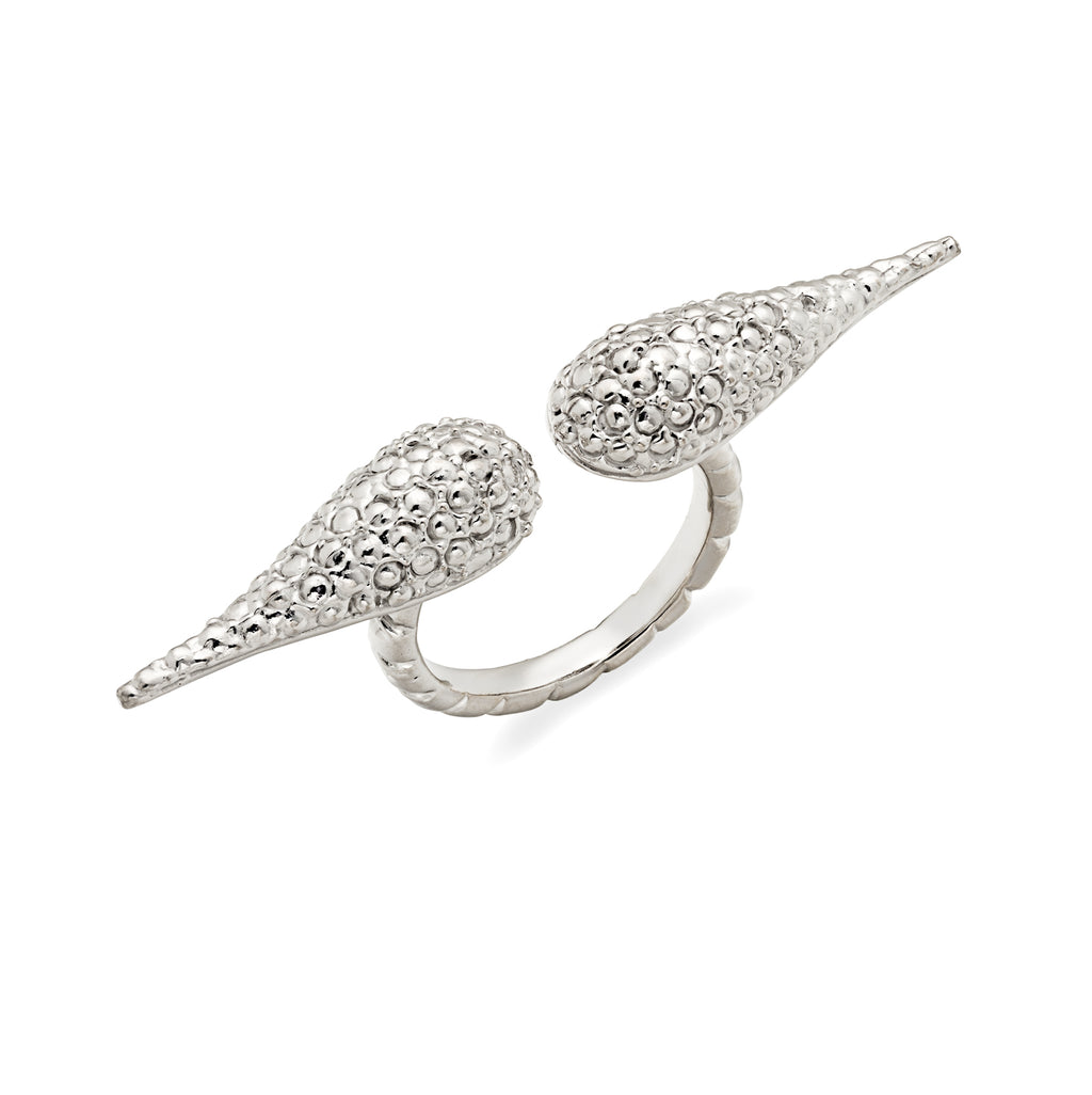 Sterling silver textured wing ring, hand carved band with wings that have an edgy yet elegant look, stackable for a more bold look, each piece donates to ALS research in order to end ALS