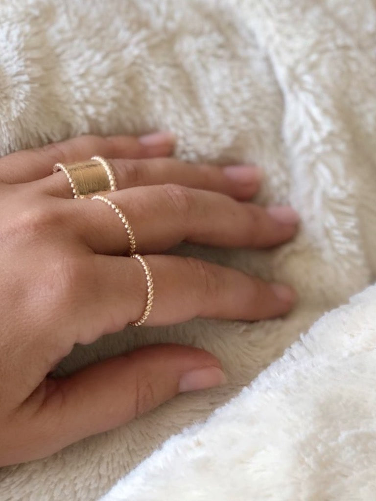 TINY GOLD STACKABLE | RING