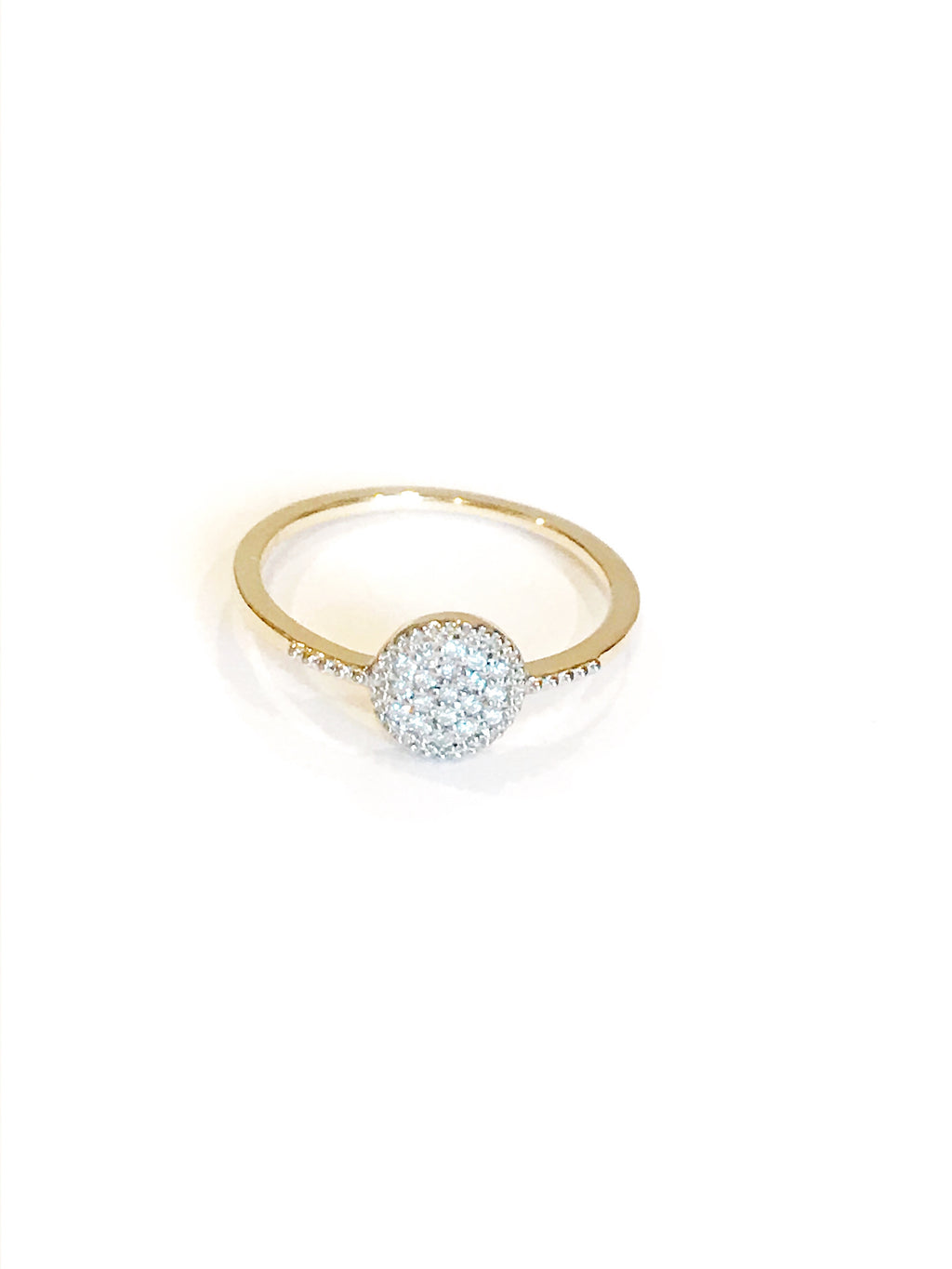 Tiny but Mighty Diamond Disc| Ring