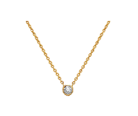 IRINI single diamond drop necklace on 14k gold chain, classic, delicate, beautiful, layers with everything