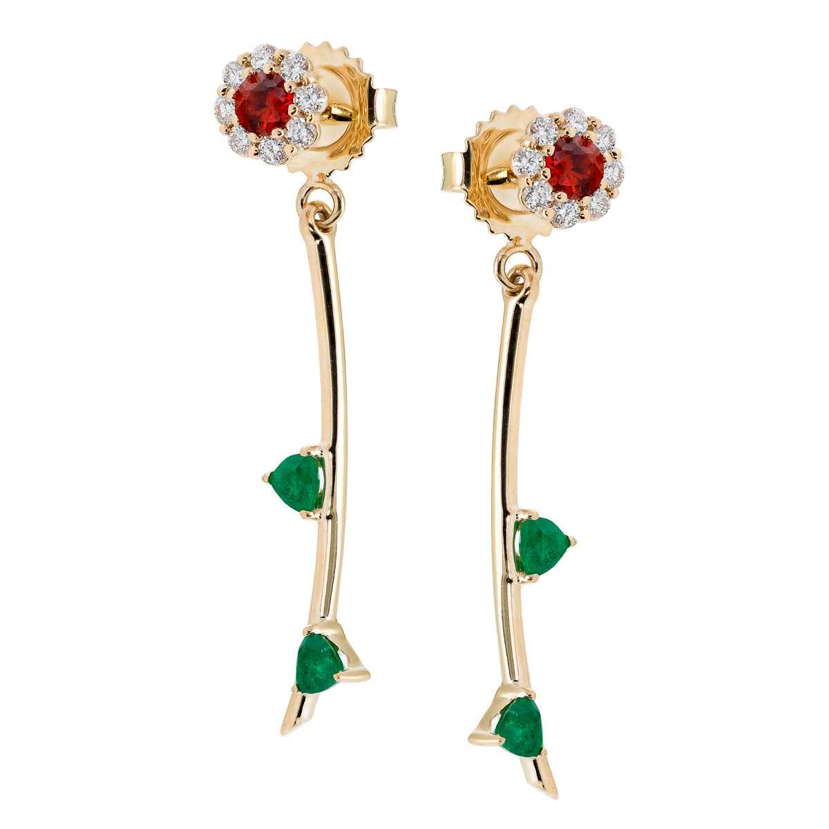 FULL BLOOM | EMERALD EARRING BACKS