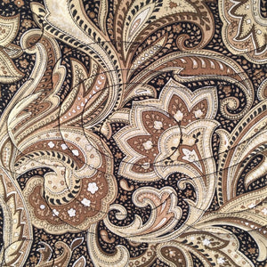 Comfort Quilt in tan, brown and black paisley print fabric