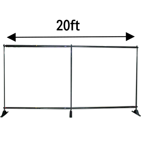 20ft W x 8ft H Adjustable Telescopic Backdrop Stand - Supreme Banners