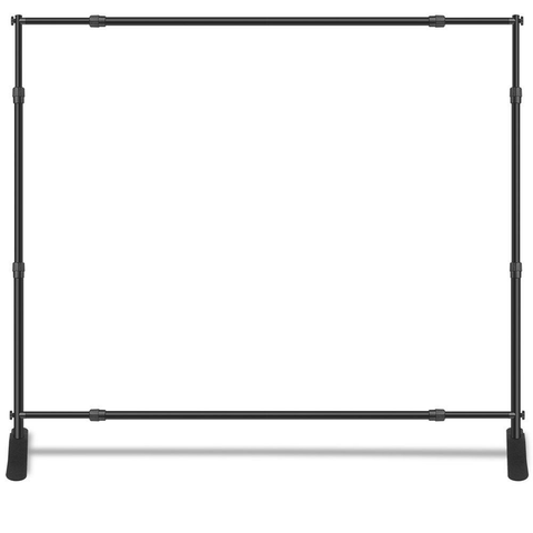 10ft W x 8ft H Adjustable Telescopic Backdrop Stand (Premium Level) - Supreme Banners