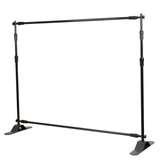 10ft W x 8ft H Adjustable Telescopic Backdrop Stand (Economy Level) - Supreme Banners