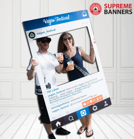 Coroplast Social Media Frame Photobooth Prop - 2015 Version (Digital/Printed) - Supreme Banners