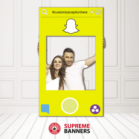 Coroplast Snapchat Frame Photobooth Prop (Digital/Printed) - Supreme Banners