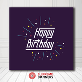 Copy of Custom Birthday Backdrop Template #10
