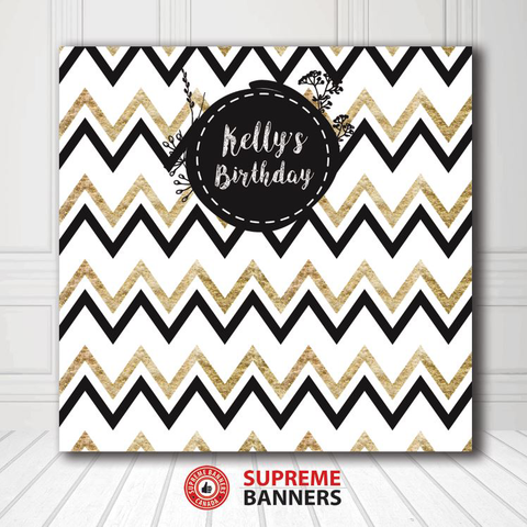 Custom Birthday Backdrop Template #12 - Supreme Banners