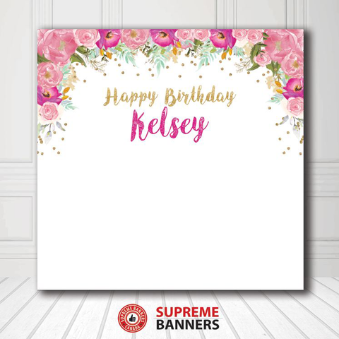 Custom Birthday Backdrop Template #13 - Supreme Banners