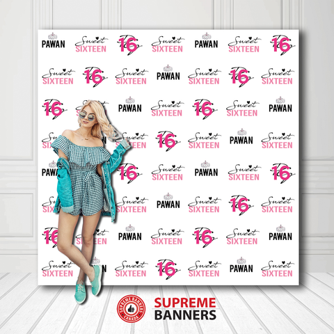Custom Birthday Backdrop Template #15 - Supreme Banners