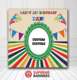 Custom Birthday Backdrop Template #1 - Supreme Banners