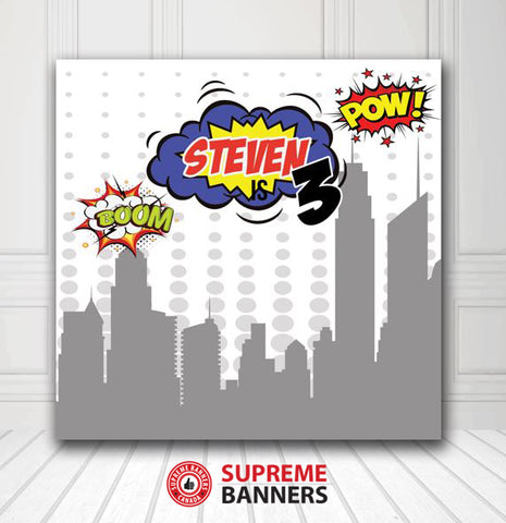Custom Birthday Backdrop Template #2 - Supreme Banners