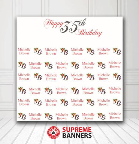 Custom Birthday Backdrop Template #3 - Supreme Banners