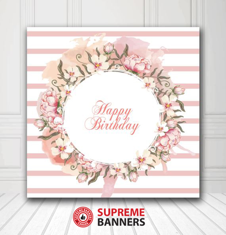Custom Birthday Backdrop Template #4 - Supreme Banners