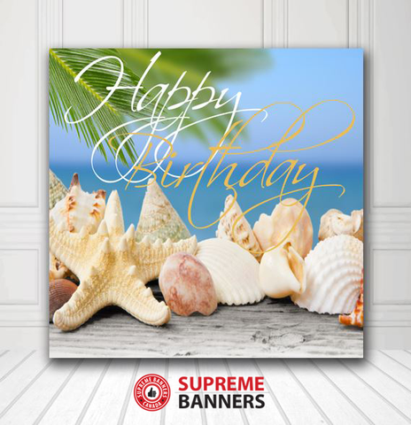Custom Birthday Backdrop Template #5 - Supreme Banners