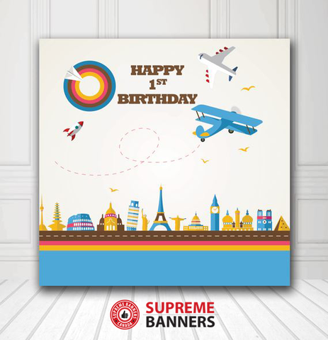 Custom Birthday Backdrop Template #6 - Supreme Banners