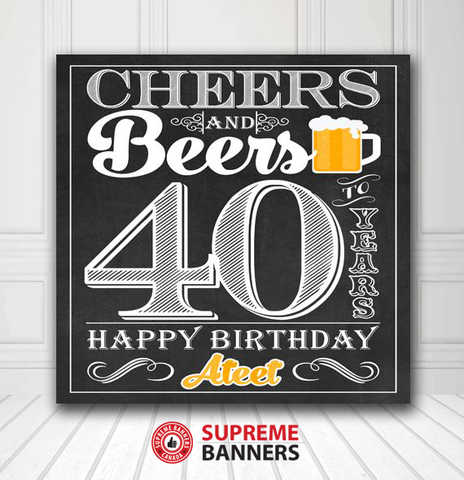 Custom Birthday Backdrop Template #9 - Supreme Banners