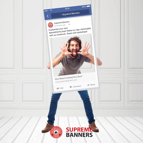 Coroplast Social Media Frame Photobooth Prop (Digital/Printed) - Supreme Banners
