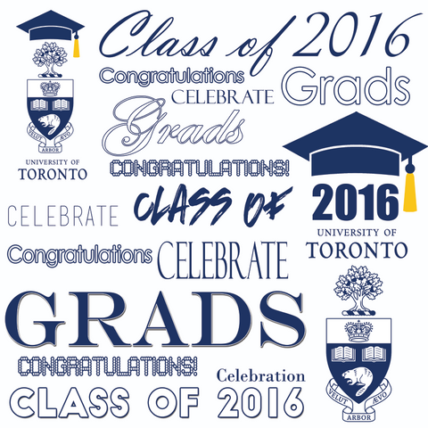 Custom Graduation Backdrop Template #1
