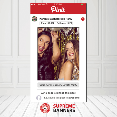 Coroplast Pin- It Frame Photobooth Prop (Digital/Printed) - Supreme Banners