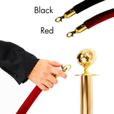 Gold Stanchions with Red/Black Velvet Rope - Supreme Banners