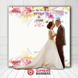 Custom Wedding Backdrop Template #14 - Supreme Banners