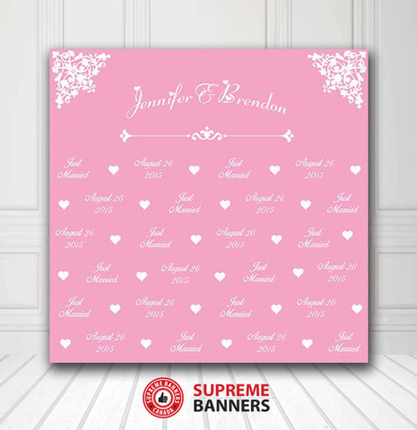 Custom Wedding Backdrop Template #1 - Supreme Banners