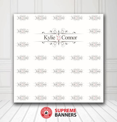 Custom Wedding Backdrop Template #2 - Supreme Banners